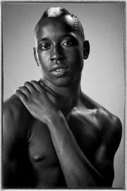 Male model Gavin portrait black & white