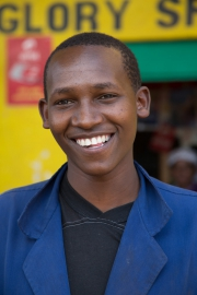 Thika market - young man
