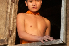 Laos - monks and Buddhas