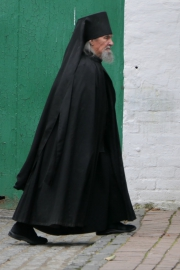 Russian orthodox cleric, Sergiëv Possad, Russia