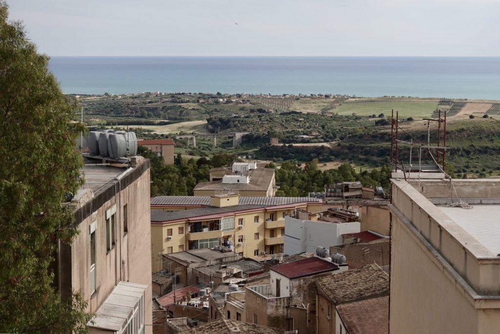 Uitzicht vanuit hotel Exclusive in Agrigento, Sicilië