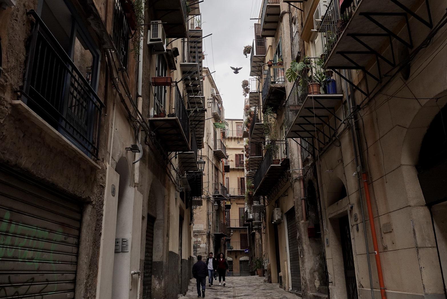 Straat in Palermo