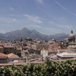 Uitzicht vanaf het terras van hotel Ambascatori, Palermo